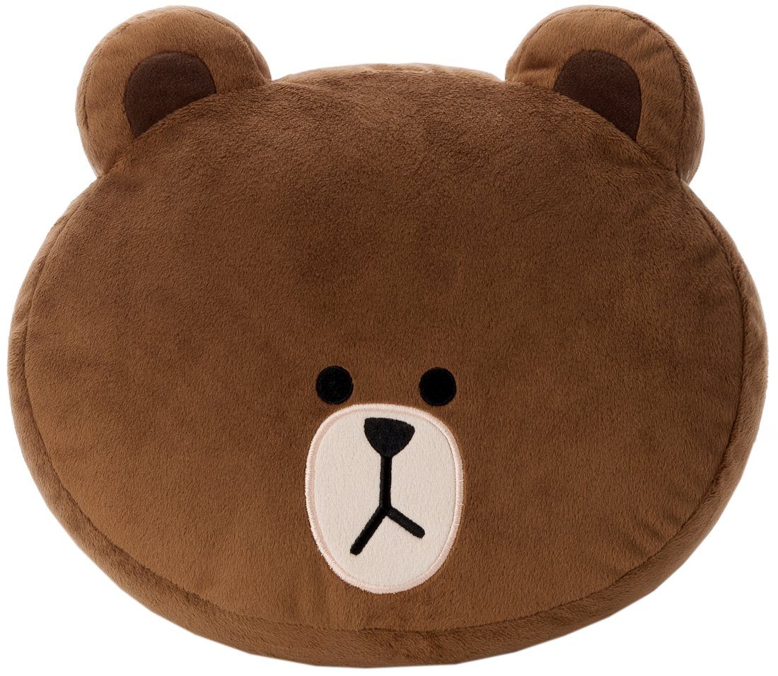 LINE CHARACTER face cushion Brown (japan import)