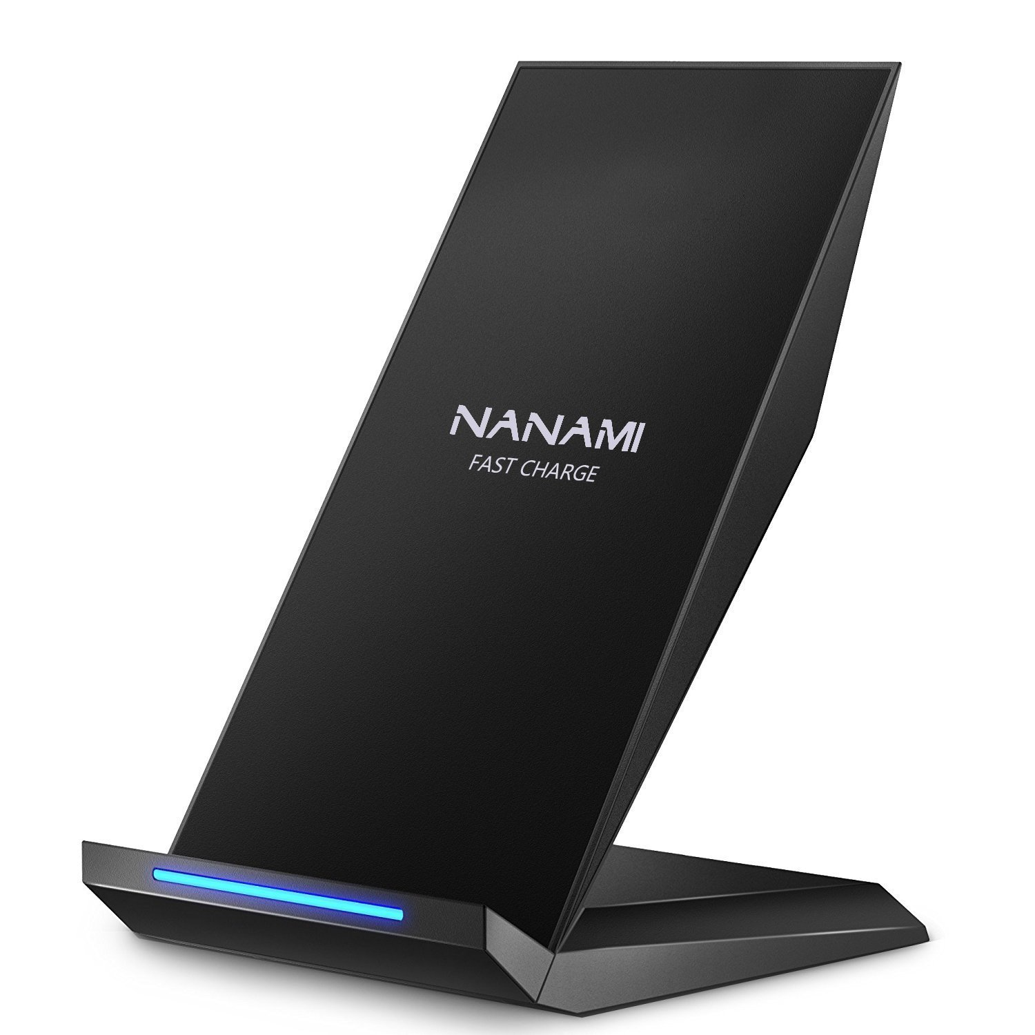 Fast Wireless Charger, Nanami Qi Certified Charger Wireless Charging Stand For Samsung Note8, I Phone 8/8 Plus, I Phone X, Galaxy S9 S9 Plus S8 S8+ S7 S7 Edge Note 5 S6 Edge+ And All Qi Enabled Devices by Nanami
