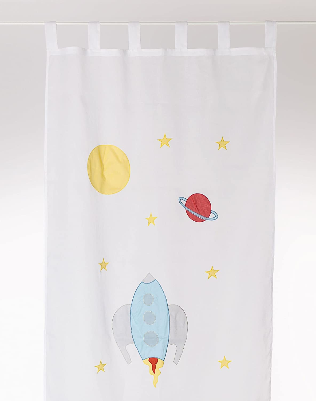 Kinderzimmer Vorhang \'Rocket\': Amazon.de: Baby
