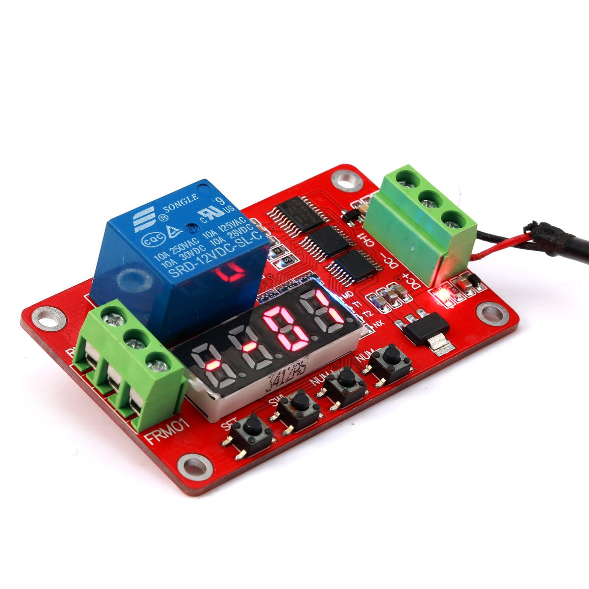 Geri Newer Version 12v Multifunction Relay Cycle Timer Module Seven Segment Counter Display Circuit Mains Failure Alarm Programmable With Customized Settings Increased To 18 Modes