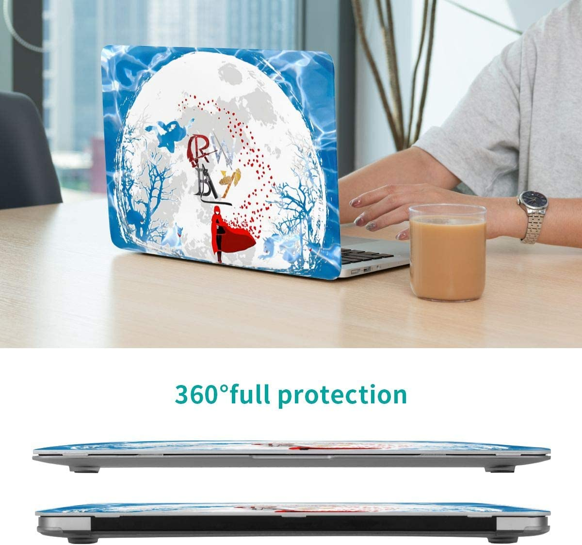 RWBY MacBook Case,Scratch Resistant Wearable Laptop Hard Shell Cover Protective Case Release A1466 A1369 A1932 A1990 for Apple MacBook air13