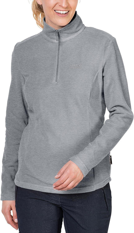 Jack Wolfskin Women's Wolf Lightweight Half-Zip Fleece Sweater, Slate Grey, X-Large