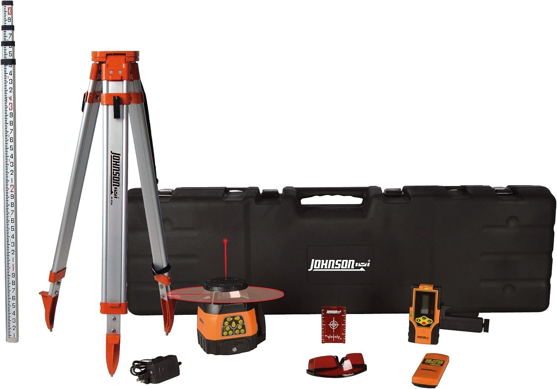 Johnson Level & Tool 99-028K Electronic Dual Slope Rotary Laser System, Hard Case Kit