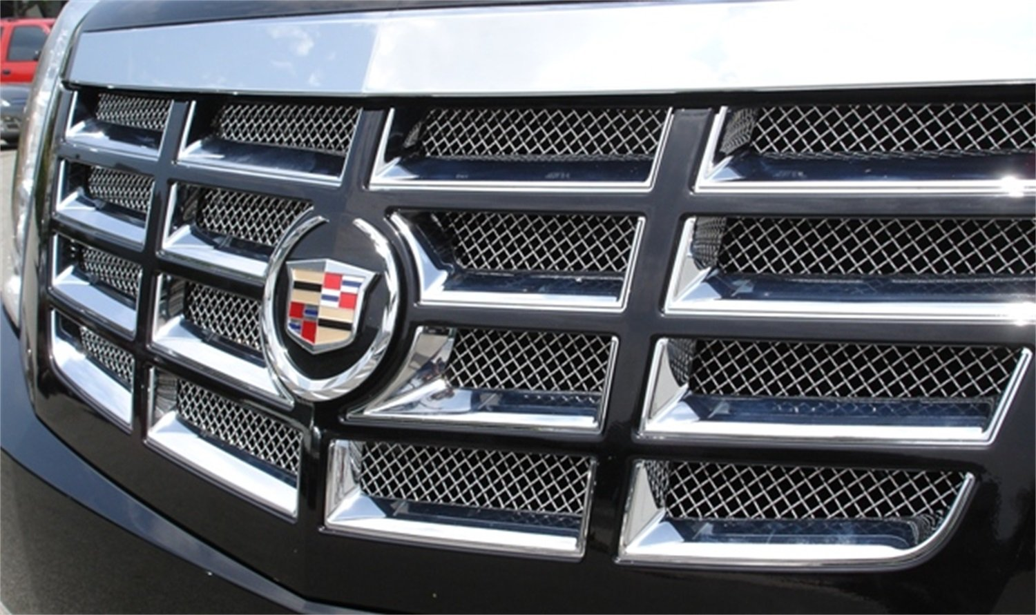 TRex Grilles 54195 Upper Class Small Mesh Stainless Polished Finish Grille Insert for Cadillac Escalade T REX