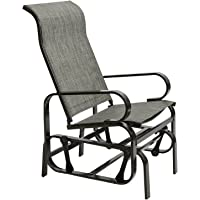 Marble Field Patio Sling Rocker Chair Outdoor Glider Rocking Lounge Chair All Weatherproof Grey