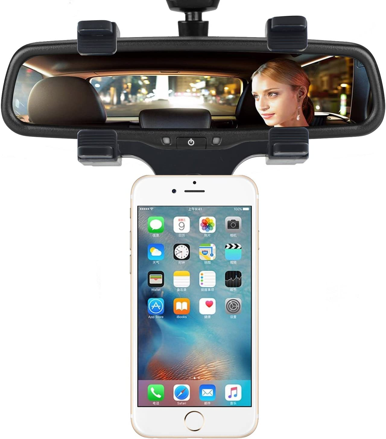 Black Google Nexus Samsung Galaxy S8//S7//S6 Edge GPS//PDA // MP3 // MP4 Devices and More INCART Magnetic Car Rearview Mirror Mount Car Phone Holder for iPhone X//8//8Plus//7//6s