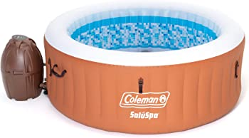 Coleman SaluSpa Miami Air Jet Inflatable Hot Tub Spa with Pump