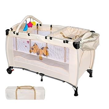 Reisebett Kinderbett Babybett Babyreisebett Kinderreisebett Bett Sterne Grau
