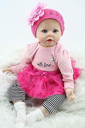 bf84327e3a7b8 MaiDe Reborn Poupée bébé Souple en Silicone réaliste en Vinyle Souple  Magnétique Bouche Belle Lifelike Mignon