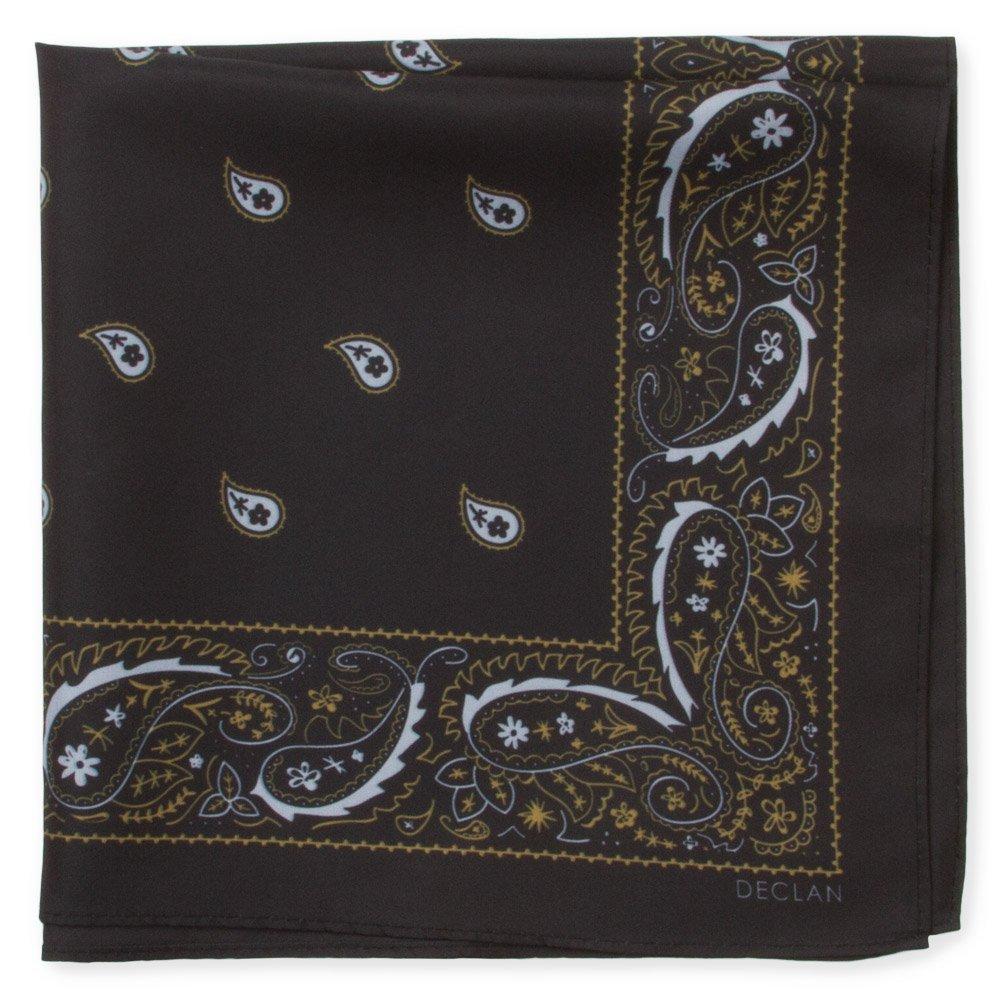 Tech Bandana/Handkerchief, 18 Inch Microfiber Cleaning Cloth (Embark - Black)