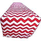 "ArtOFabric Decorative Cotton Red and White Chevron Print Table Runner. 12"" X 70"""
