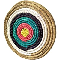Towinle Zielscheibe Feste Strohzielscheibe Perfekt Bogensport Zielscheibe Traditioneller Bogenschießen zubehör 50 * 50cm