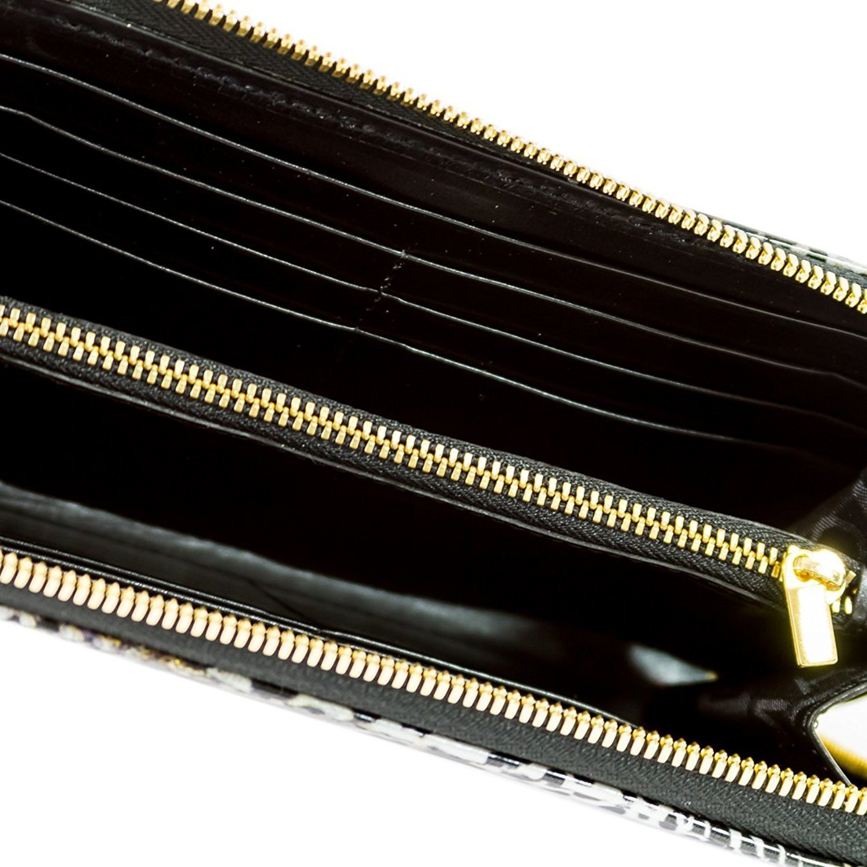 Marino Orlandi Italian Designer Jungle Metallic Glitter Leather Ziparound Wallet Clutch by Marino Orlandi (Image #3)