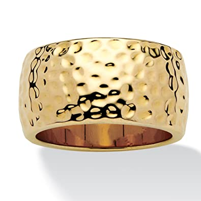 Toscana - 14k Gold-Plated Hammered-Style Band 9EwbSDr2UZ