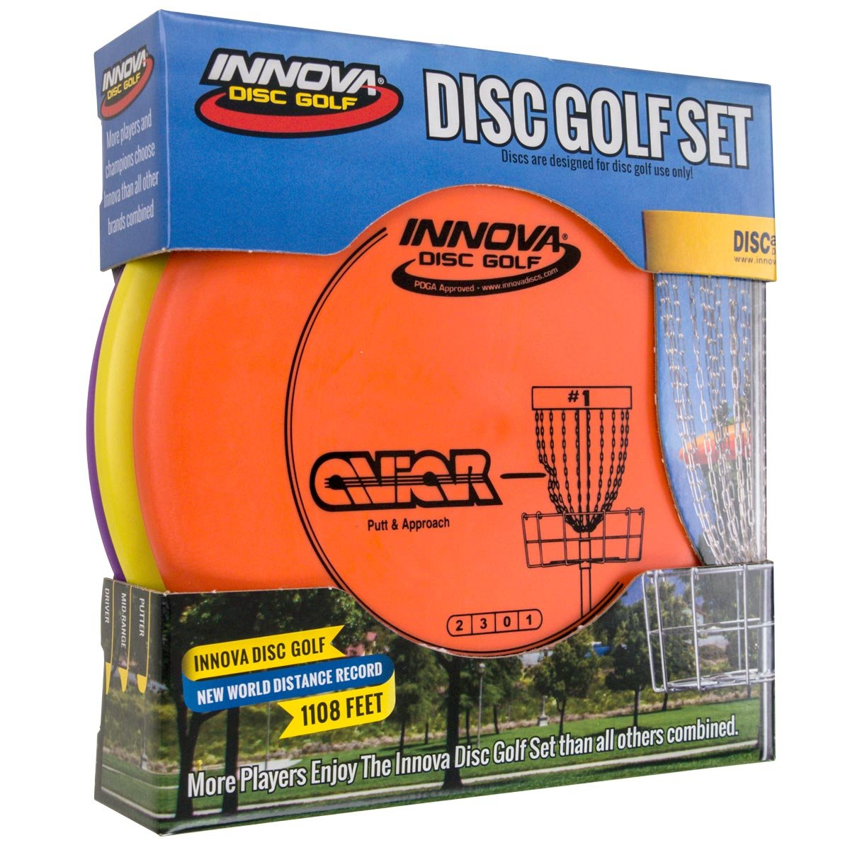 Innova Disc Golf Set - Driver, Mid-Range & Putter, Comfortable DX Plastic, Colors May Vary (3 Pack) by Innova Disc Golf