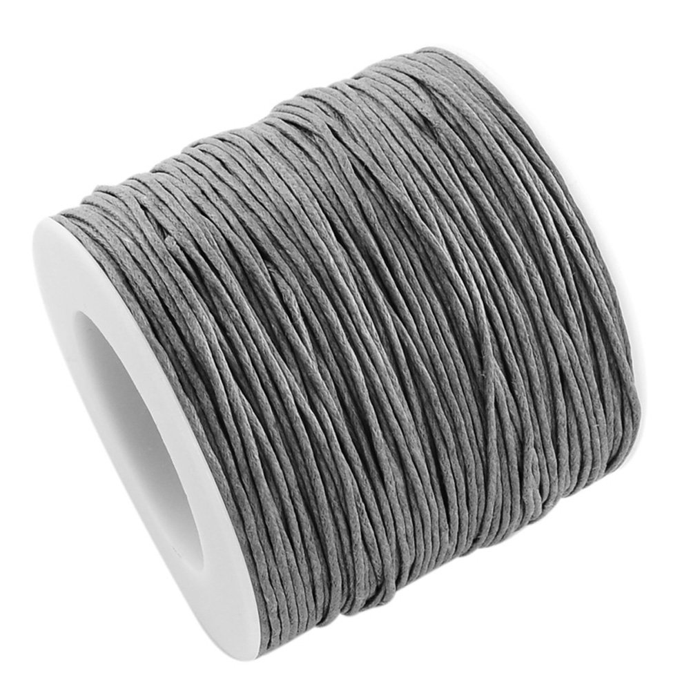 NBEADS 100yards//roll 1mm Wide Waxed Cotton Beading Cords Thread for Jewelry Making Crafting Black