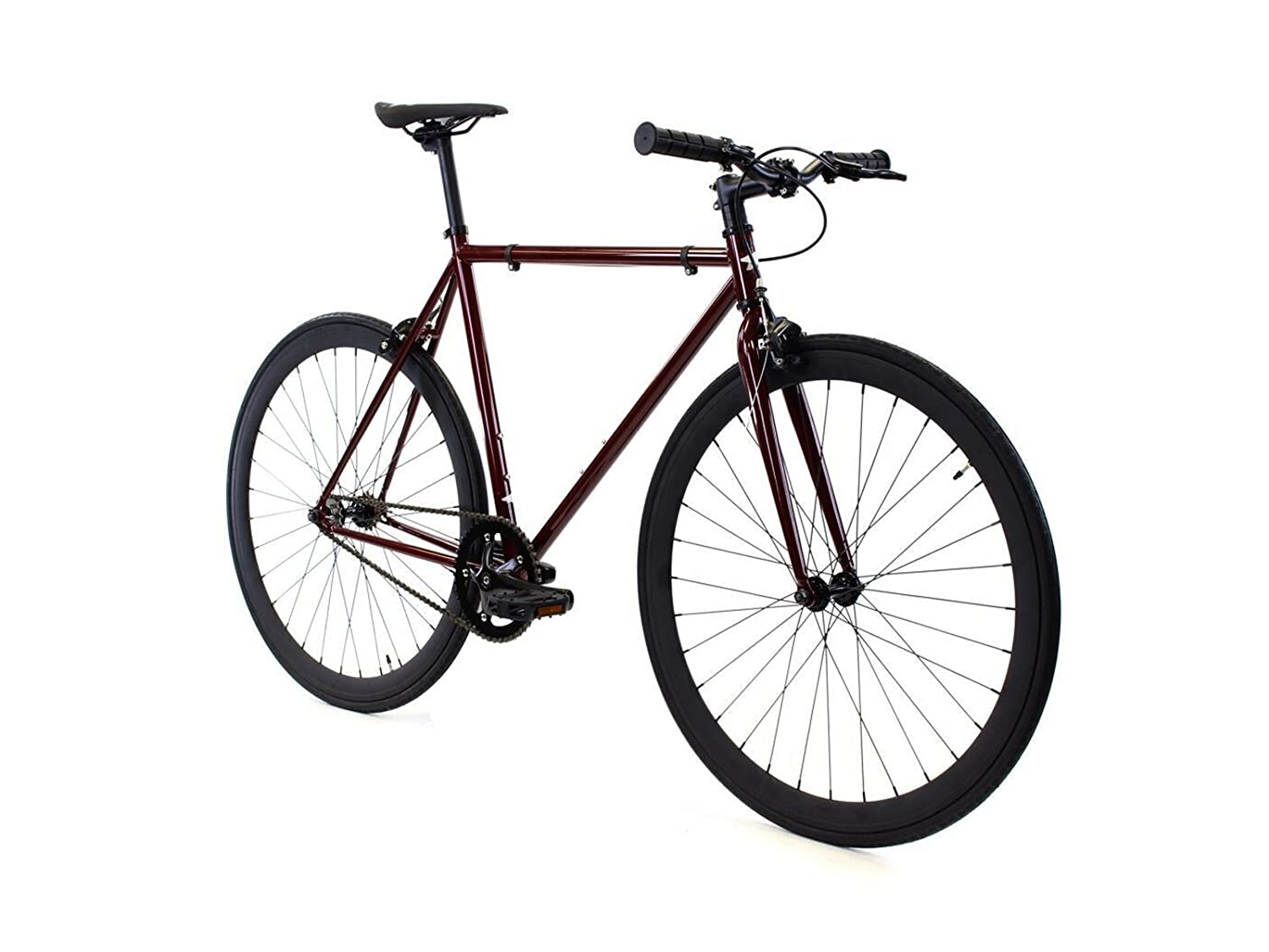 Golden Cycles Single Speed Fixed Gear Bike with Front Rear Brakes