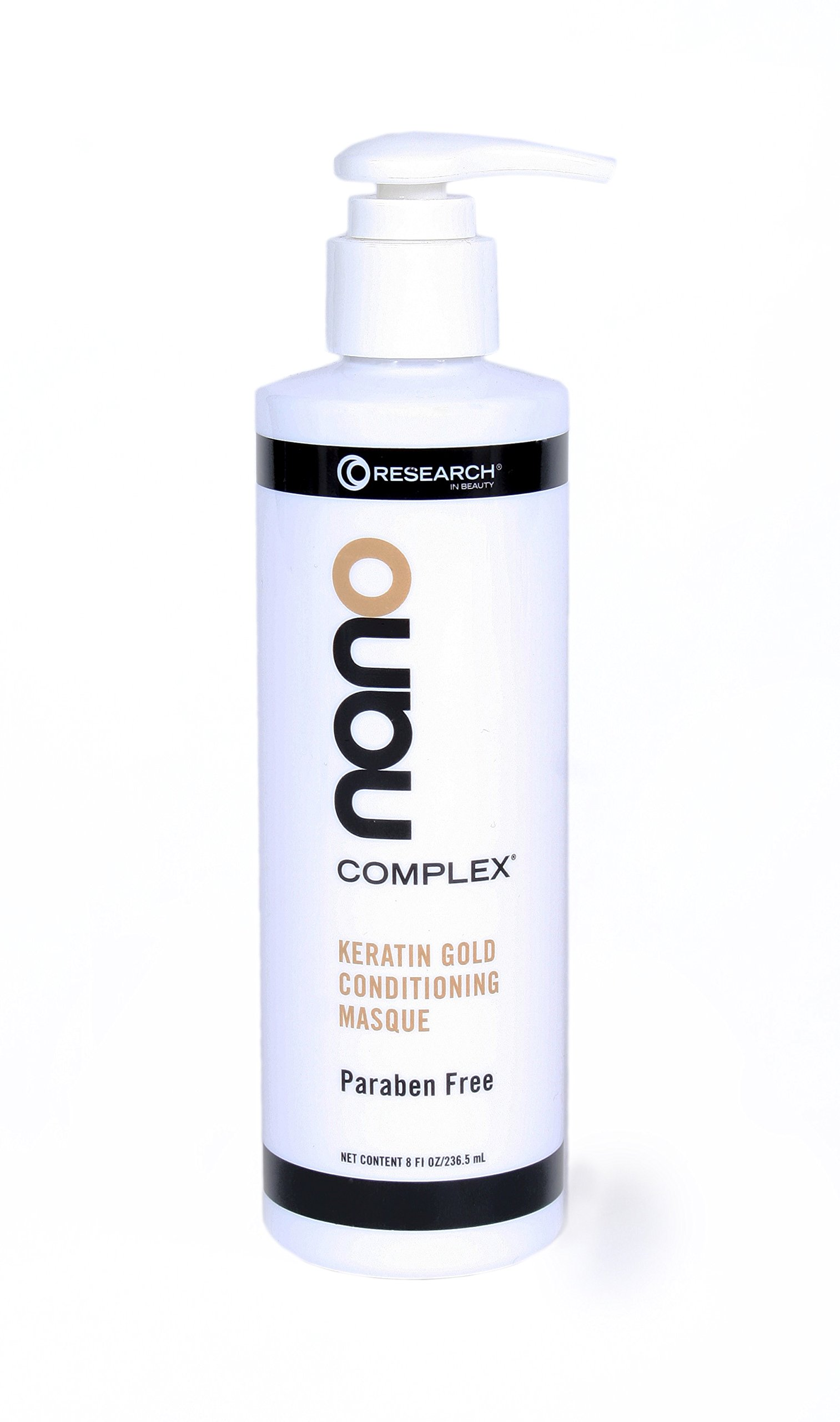 Research in Beauty Nano-Complex Keratin Gold Masque 8 Oz.