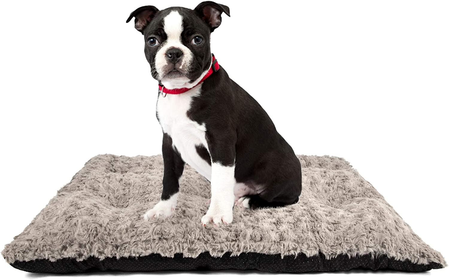 SIWA MARY Dog Bed Crate Pad Ultra Soft Mat Anti Slip Washable Cozy Kennel Pad for Large Medium Small Dogs and Cats Sleeping