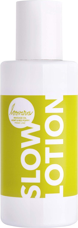 Loovara SLOW LOTION – Aceite para masajes eróticos de alta calidad (100 ml)   Con cáñamo calmante y semillas de amapola   Fragancia delicada   Para los juegos preliminares y el masaje en pareja