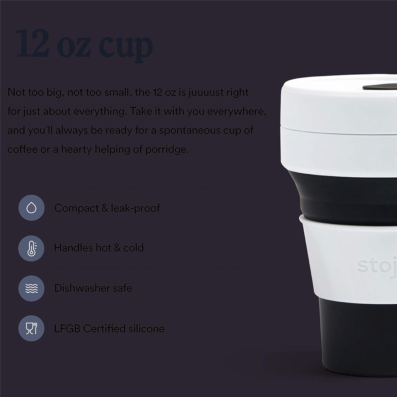 5 x 9 x 9 cm STOJO Collapsible Pocket Cup blau Silikon