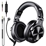 OneOdio A71 Over Ear Headsets with Boom Mic - PS4 Xbox One Nintendo Switch PC Wired Stereo Headphones with On-Line Volume & Share-Port Headsets for Gaming Office Phone Call DJ