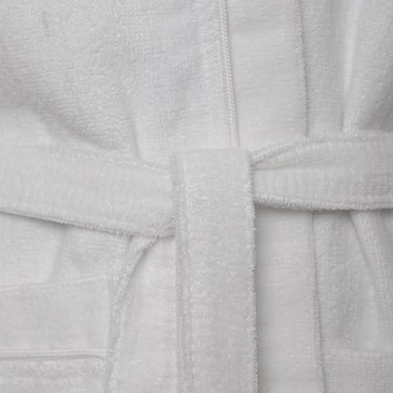 Kids 100 Egyptian Cotton Hooded Velour Terry Towelling Bathrobe