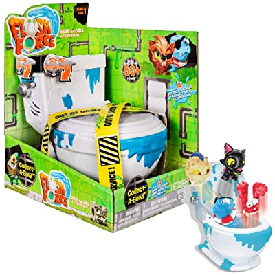 Flush Force – Series 1 - Collect-A-Bowl Stash 'n' Store Case for 4 Exclusive Flushie Figures: Toys & Games