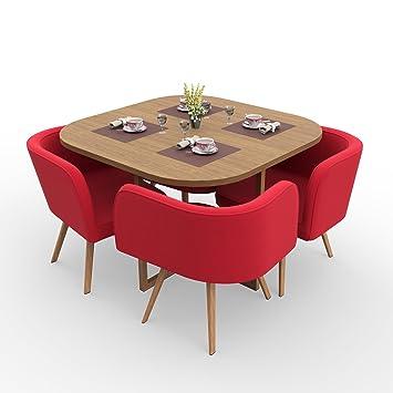 Forzza Mason Four Seater Dining Table Set (Oak)