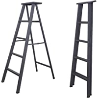 South Whales 5 -Step Foldable Ladder with Anti-Slip Steps (Grey)