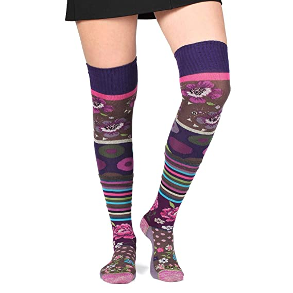 f7172e95110 Image Unavailable. Image not available for. Colour  Thought women s crazy combed  cotton over-the-knee socks ...
