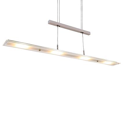 Briloner Leuchten - LED Pendelleuchte, Esstischlampe, Wohnzimmerleuchte, 18W, 1600 Lumen, höhenverstellbar, teilsatiniertes G