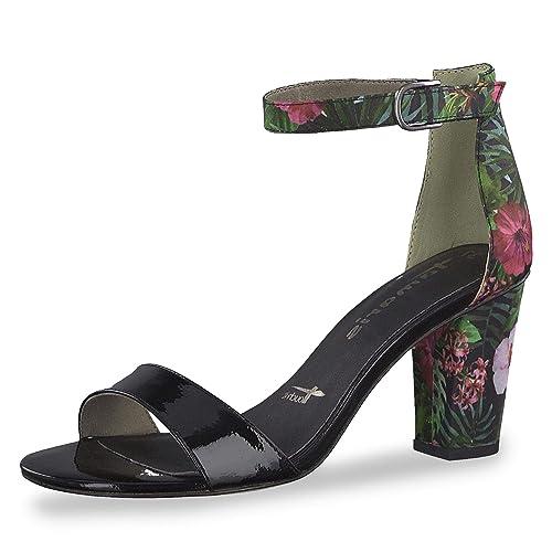 Tamaris 28315 22 043 Damen modische Sandalette aus Lederimitat mit 60 mm Absatz