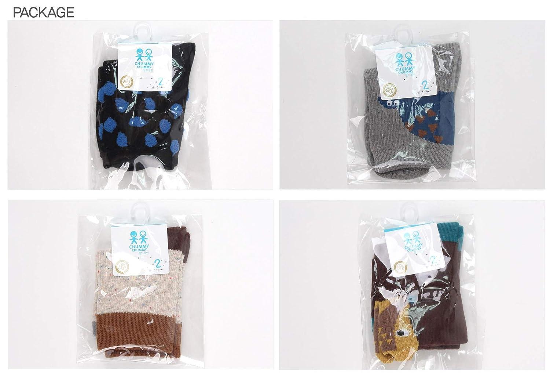ChummyChummy Fashion Cute Anti Slip Non Skid Kids Toddler Boys Cotton Crew Socks 4 Pairs Pack Black Gray Brown