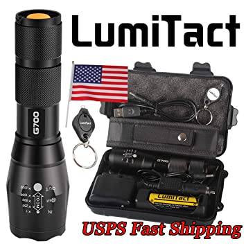 2 700 Lumens Lumitact Authentic G700 High Performance Tactical Flashlights