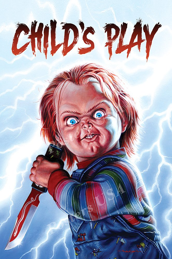 """Posters USA Child's Play Chucky GLOSSY FINISH Movie Poster - FIL828 (24"""" x 36"""" (61cm x 91.5cm))"""