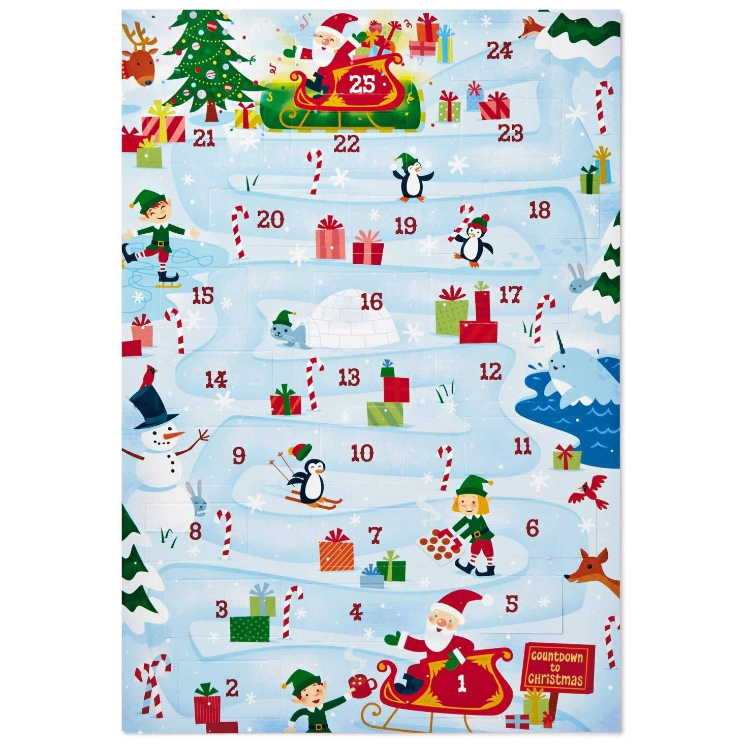 Hallmark Santa's Sleigh Advent Calendar Decorative Accessories