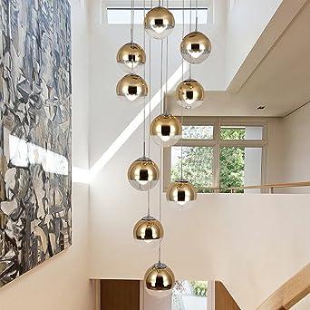 moderne Treppe Kronleuchter 10 Glaskugeln kreative Persönlichkeit ...