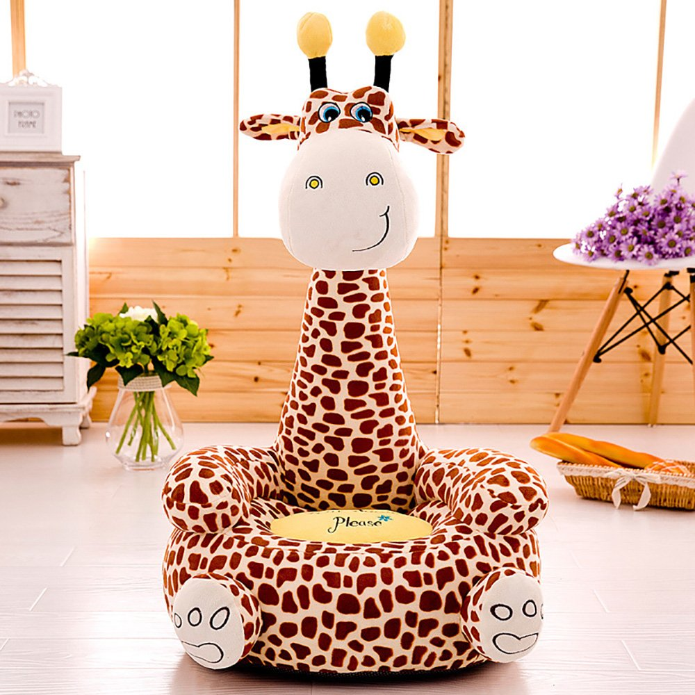 Cartoon Seats Giraffe Soft Children's Plush Chair Ideal for Children, Tatami Sofa,Ages 2 and up,17