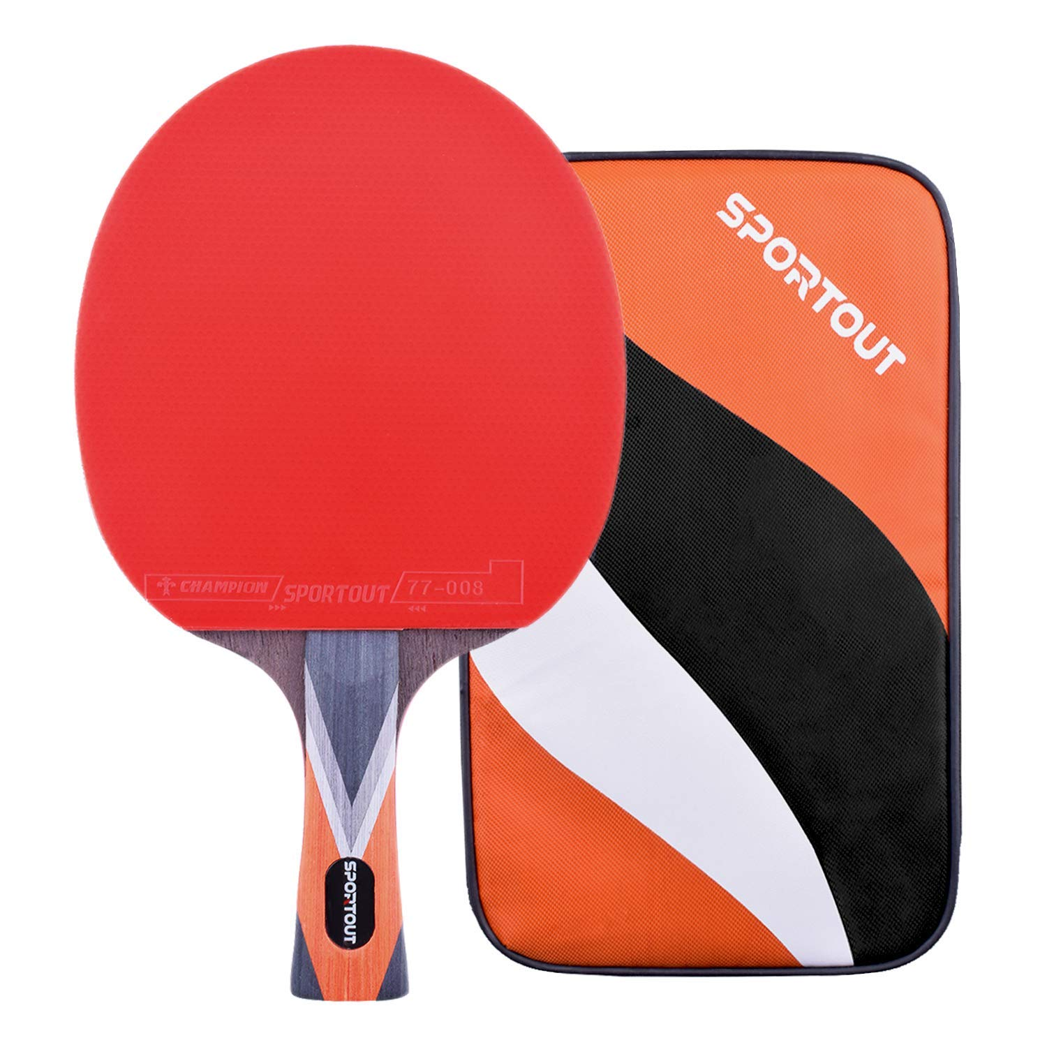Balls and Portable Case Perfect for Home Indoor or Outdoor Play Sportout 4 Player Ping Pong Paddle Set Table Tennis Paddle Set with Retractable Net