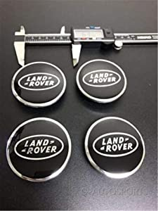 kil1 4Pcs Set Black & Chrome Center Wheel HUB CAPS Logo Rims Fit for LAN.D Rove.R
