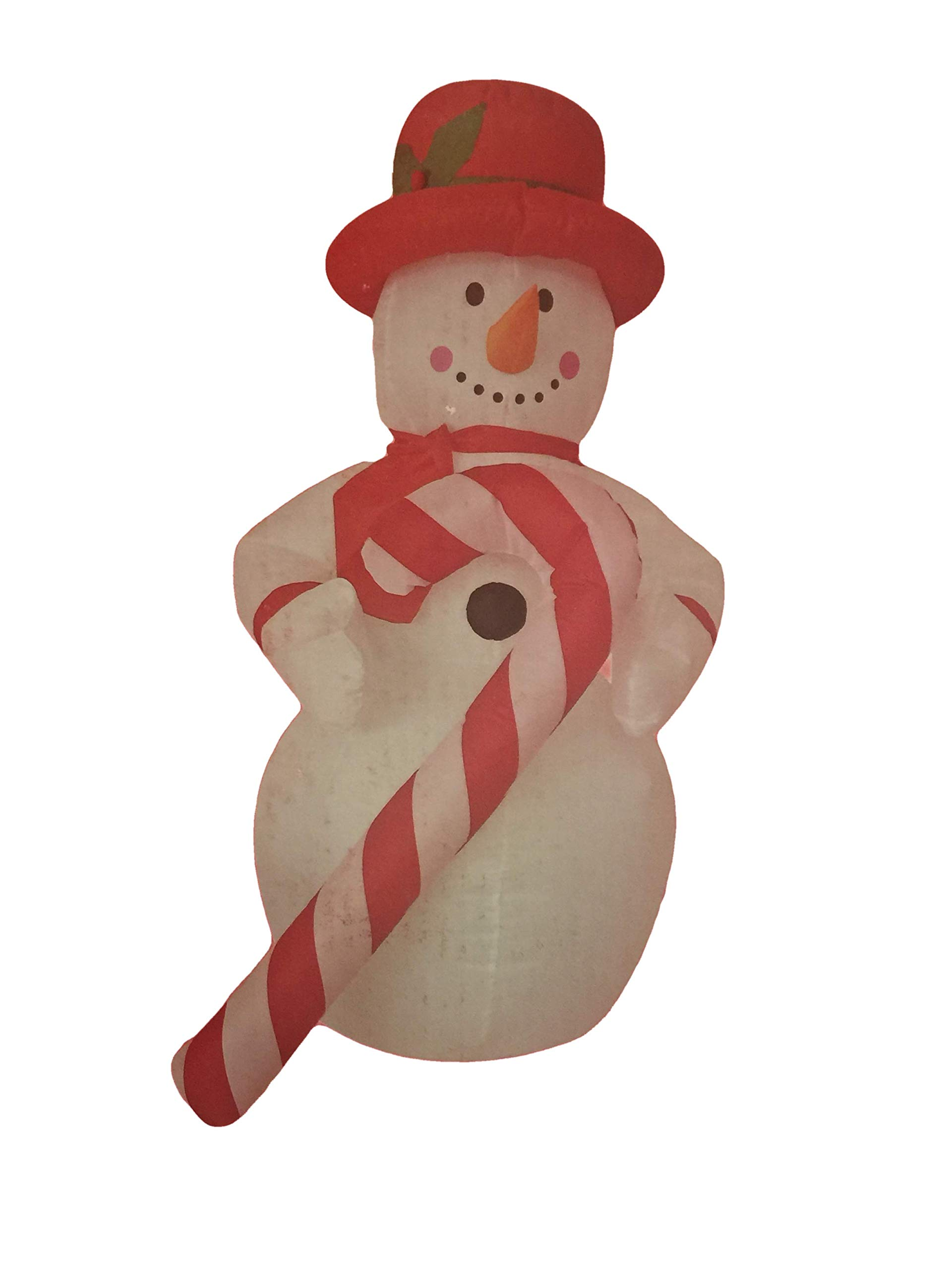 Santa's Boutique Christmas Self Inflating Illuminated Blow-Up Yard Decorations (8 Ft. Snowman with Red Hat & Candy Cane)