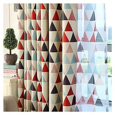 Majome géométrique personnalisée Rideau contemporain Rideaux ...