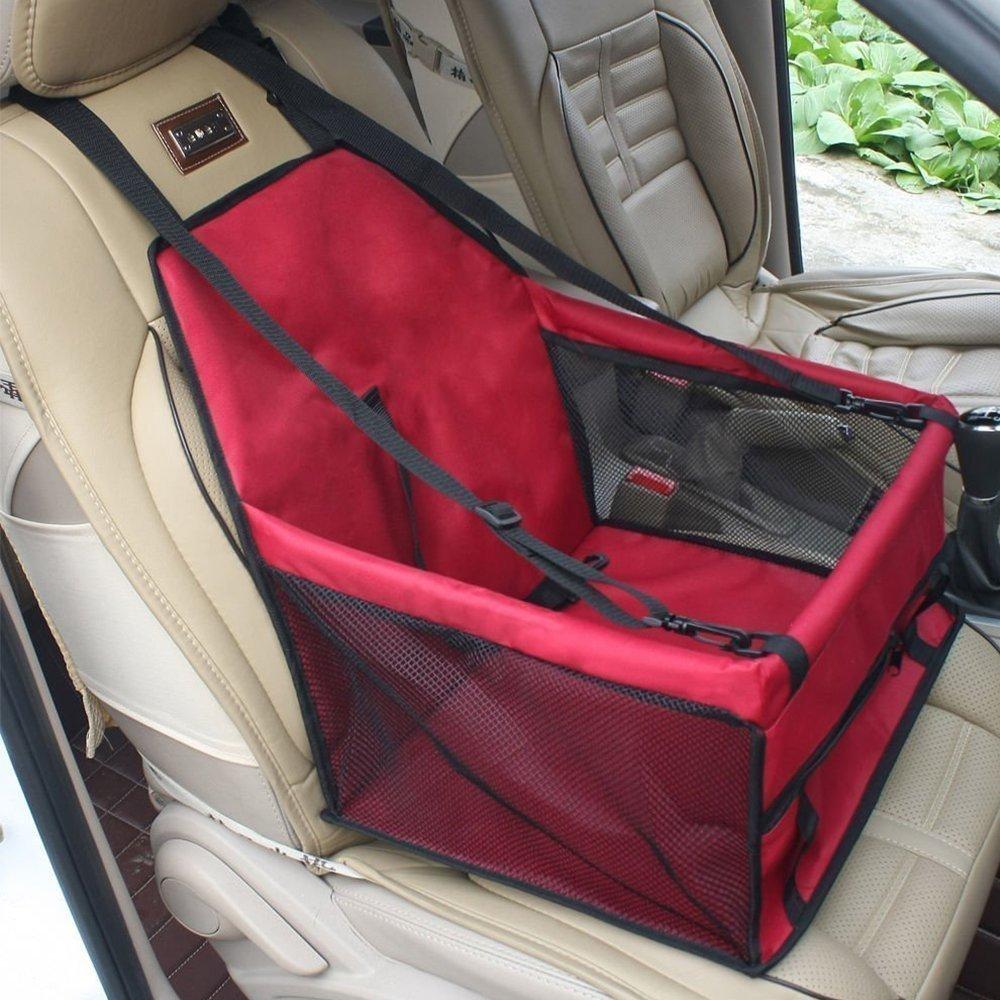 Siège auto rehausseur pour animal domestique/chat/chien de marque Karl Aiken - Perméable à l'air et étanche - Avec ceinture - Sécuritaire.