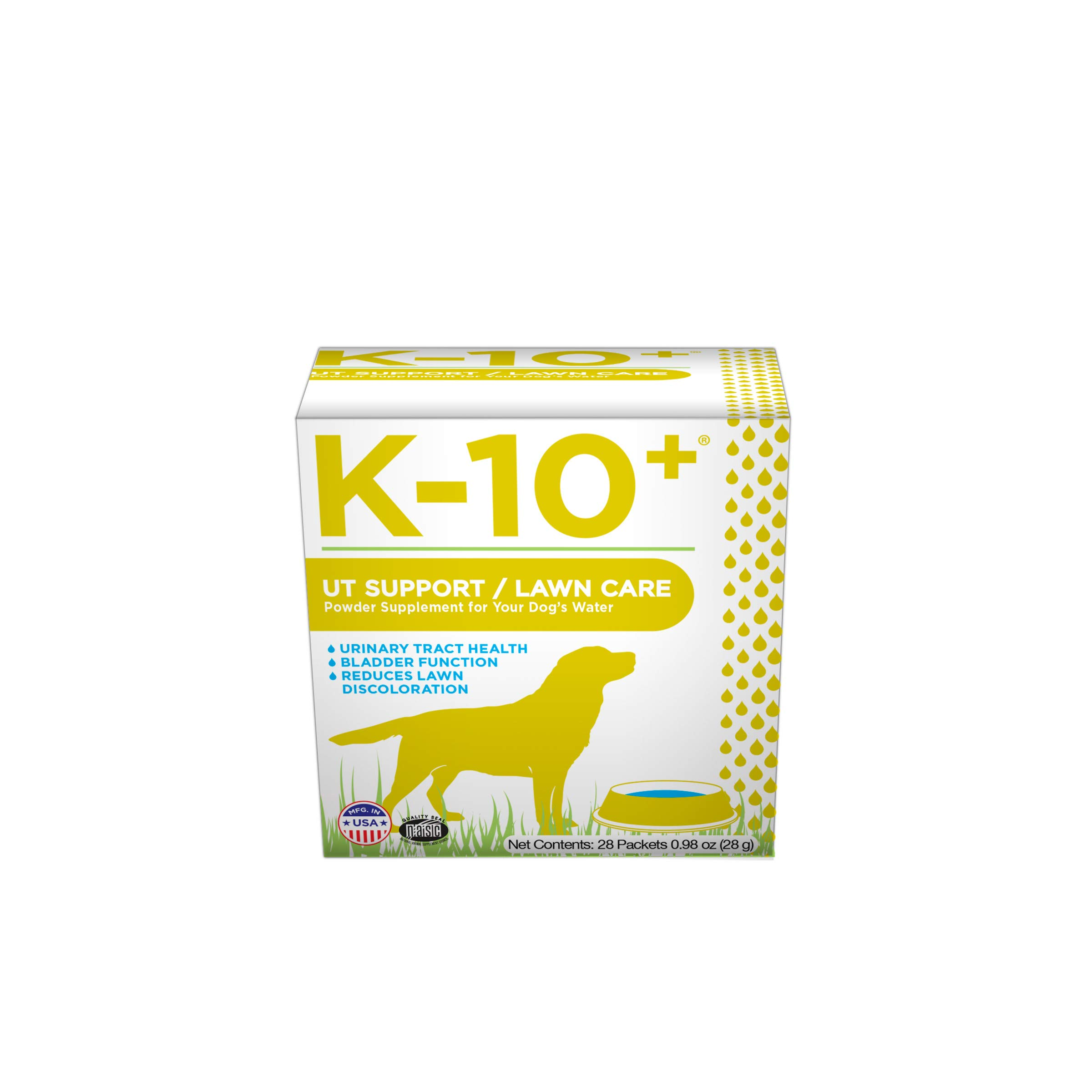 K-10+ Urinary Tract Health Supplement Powder for Dogs, UT/Lawn Care for Your Dog's Water - 28 ct. Box by K-10+