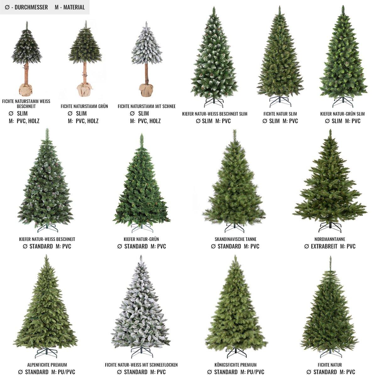 Künstlicher Tannenbaum Nordmanntanne.Fairytrees Künstlicher Weihnachtsbaum Nordmanntanne Grüner Stamm