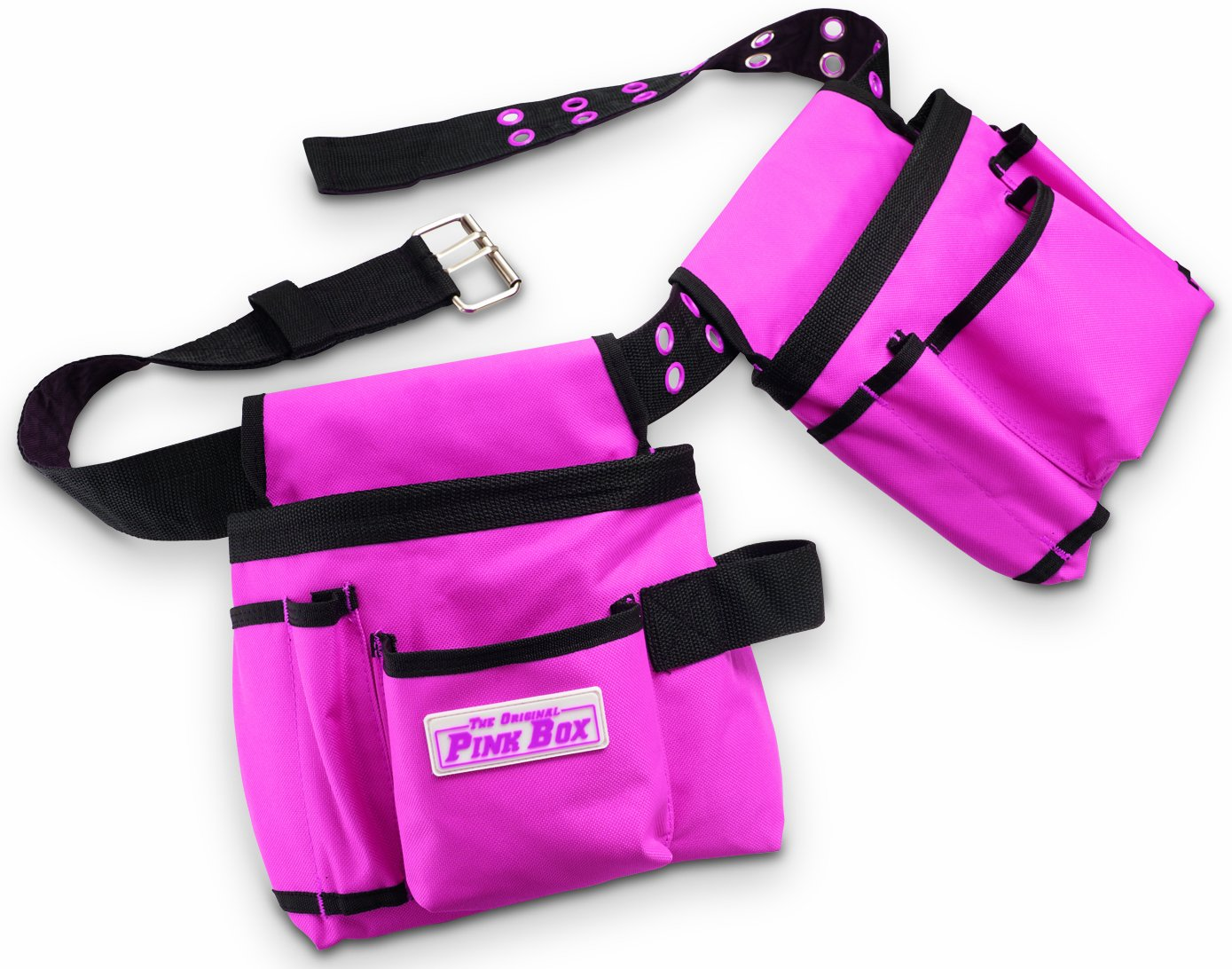 The Original Pink Box PB2BELT Tool Belt, 10-Pocket, Pink by The Original Pink Box
