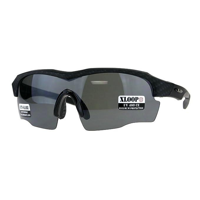 Xloop Polarized Lens Mens Metal Half Rim Sport Classic Sunglasses