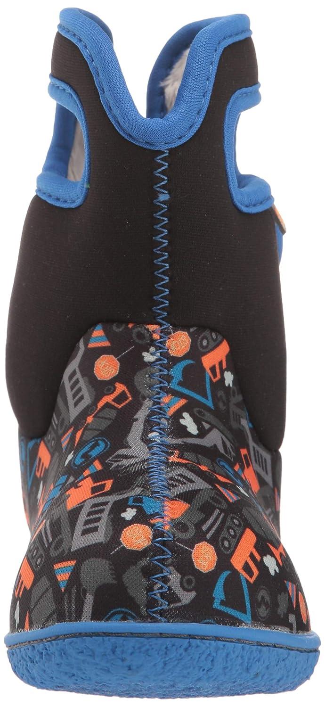 BOGS Boys Baby Construction Black Multi Washable Warm Wellies Boots 724621-7 UK 24 EU