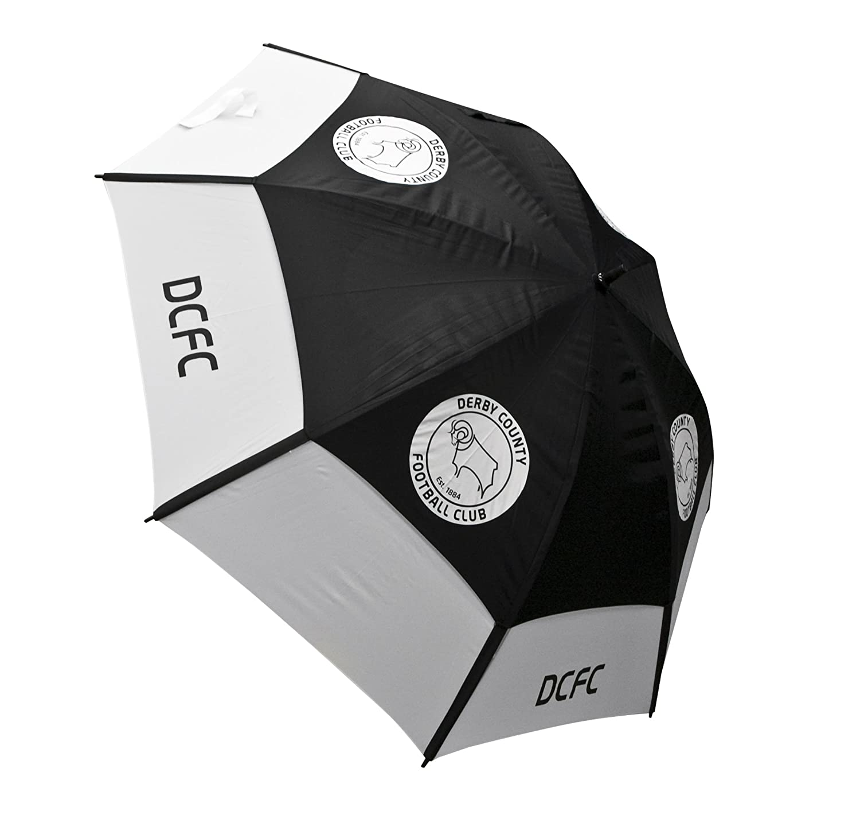 Derby County Parapluie de golf Noir/Blanc   B004CSX8XM
